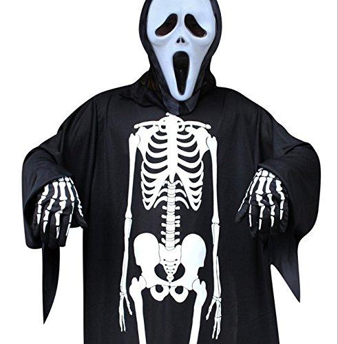 Halloween Costumes Scary Men.Halloween Costume Skeleton Halloween Gloves Skeleton Costume Unisex Halloween Costume Scary For Adult Women Men Boys Girls Cosplay Skull Ghost