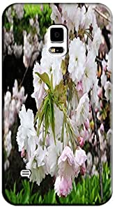 Fantastic Faye Cell Phone Cases For Samsung Galaxy S5 i9600 No.20 The Beautiful Design With Japanese Cherry