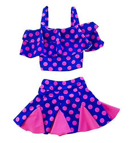 Baby Girls Bikini Children Swimwear Bikini Bathing Suit Swimsuit 2 Pcs Set Swimsuit Suitable Weight 20-25kg by Evedaily