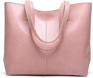 AZALCO Oil Wax PU Leather Tote Women's Handbag…