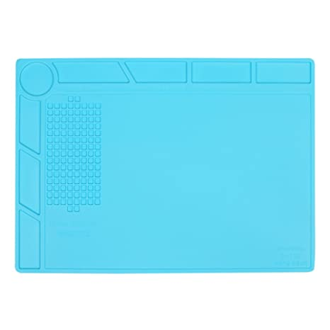 Anti Static Y resistente al calor Estera de soldadura de silicona, para el soldador,