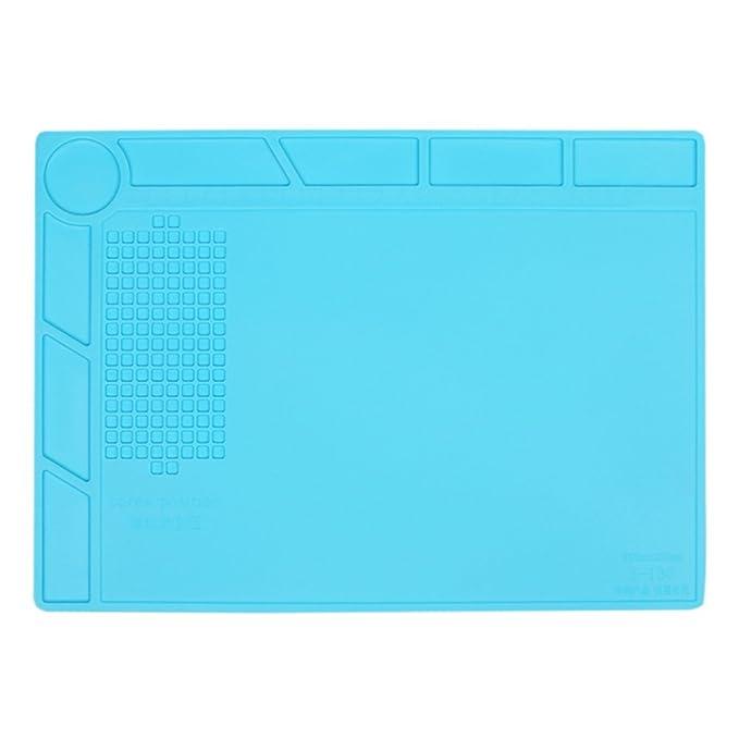 Anti Static Y resistente al calor Estera de soldadura de silicona, para el soldador,teléfono y reparación de computadoras,plataforma de mantenimiento BGA de ...