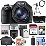 Sony Cyber-Shot DSC-HX400V Wi-Fi Digital Camera with 32GB Card + Case + Flash + Battery/Charger + Tripod + 3 Filters Kit For Sale