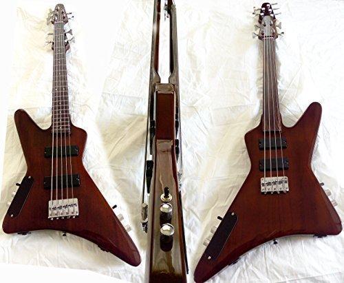 4 strings fretless bass 5 strings bass guitar brown 2016 import it all. Black Bedroom Furniture Sets. Home Design Ideas
