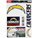 "NFL San Diego Chargers 03775071 Multi Use Decal, 11"" x 17"""