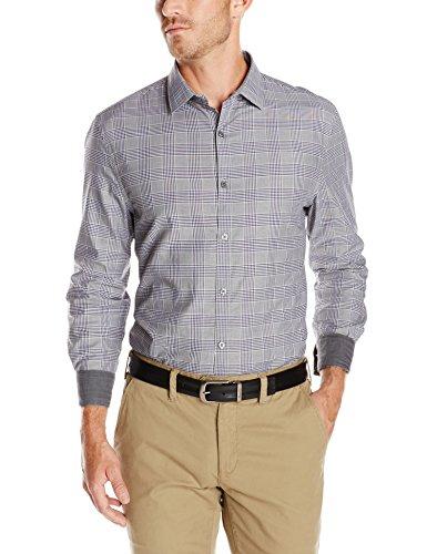 Perry Ellis Men's Long Sleeve Plaid Shirt