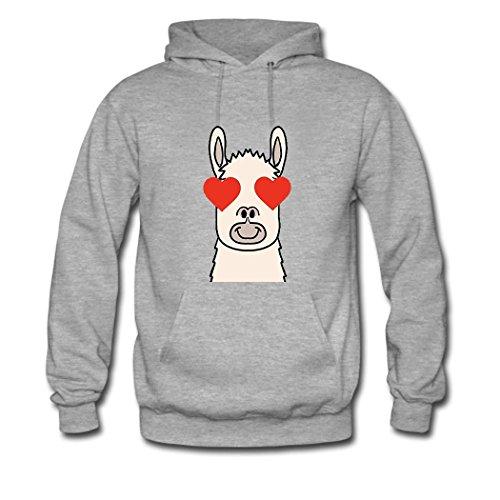 1 1 1 Classic Llama Hoodie Gray Gray Gray Custom Women HKdiy Heart 1Ow0q66T