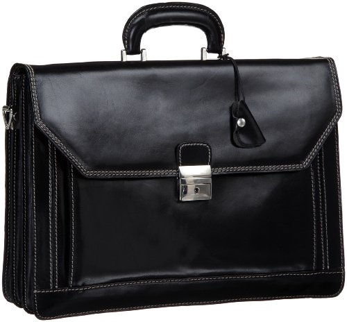 Floto Luggage Venezia Briefcase, Black, One Size by Floto