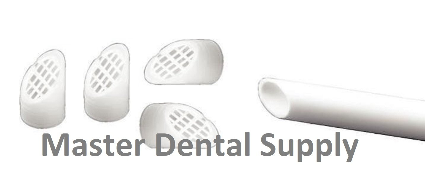 Dental Aspirator HVE Tips Screens WHITE Disposable Evacuation Screens 100 Pcs/Bag Evacuator Tips Screens