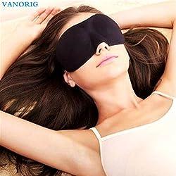 3D Eye Mask Sleep Mask VANORIG® Super Light & Smooth Blindfold for Travel Shift Work & Meditation ,Pack of 1 (Black)