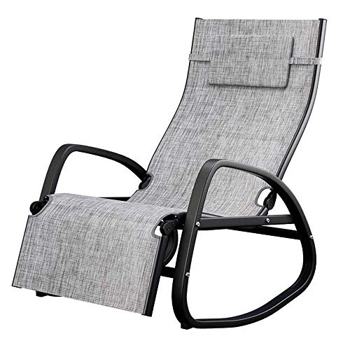 (Lounge chair Multifunction Rocking Chair,Deckchairs, Home Balcony Folding Reclining Free Shift Adjustment Recliner)