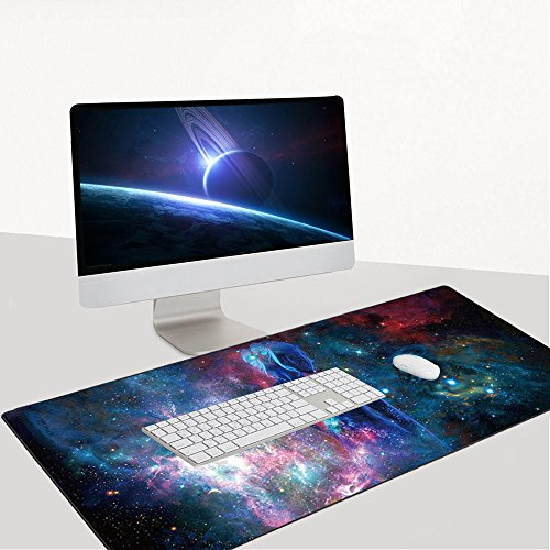 Cmhoo XXL Professional Large Mouse Pad & Computer Game Mouse Mat (35.4x15.7x0.1IN, Sky girl) Photo #4
