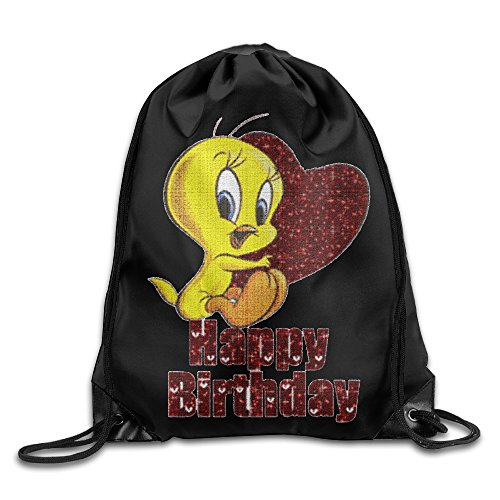 Tweety Face (Tweety Bird Face Sport Backpack Drawstring Print Bag)