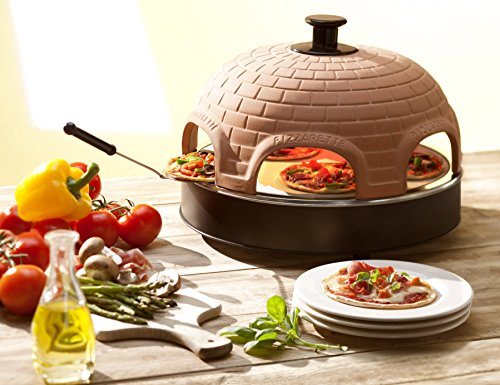 """Pizzarette - """"The World's Funnest Pizza Oven"""" - 6 Person Model - Countertop Pizza Oven - Europe's Best-Selling Tabletop Mini Pizza Oven Now Available In The USA - Dual Heating Elements"""