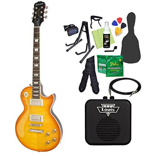 Epiphone Limited Edition Les Paul Standard Plustop PRO Dirty Lemon エレキギター 初心者14点セット ミニアンプ付き レスポール エピフォン   B07CPPPQXX