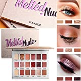 Shimmer Eyeshadow Palette, 18 Colors Matte & Shimmer High Pigmented Eyeshadow with Mirror (Pink)