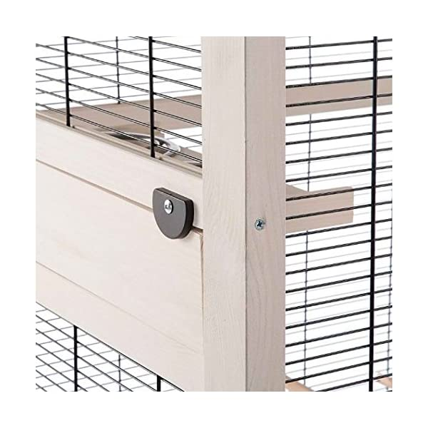 Well-Equipped High Quality Bird Aviary – Ideal for Budgies, Canaries and Other Small Birds – Includes Accessories