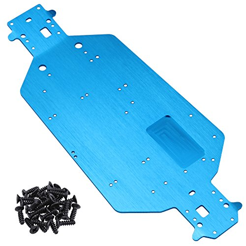 Hobbypark Metal Aluminum Chassis Replacement of HSP 04001 For Exceed Infinity Sun Fire Redcat Volcano EPX Pro Upgrade Parts Tornado RC Electric 1/10 Monster Truck Buggy BRONTOSAURUS