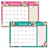 2019/2020 Floral Fantasy Calendar Pad - 11'' x 16-1/4'', Runs from January 2019 to December 2020
