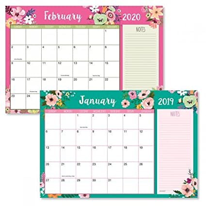 Desk Calendar 2020 Amazon.: 2019/2020 Floral Fantasy Calendar Pad   11