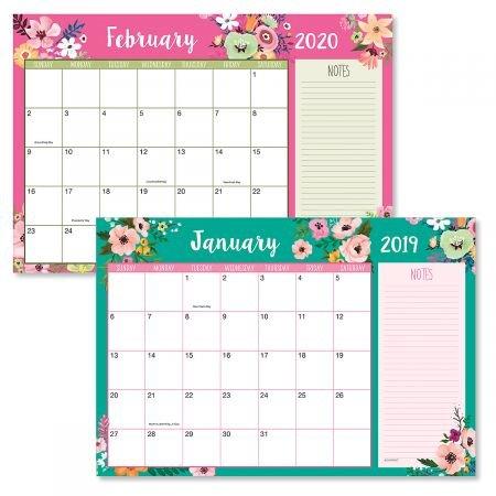 2019/2020 Floral Fantasy Calendar Pad - 11