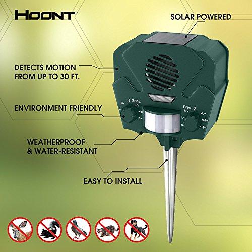 HOONT Outdoor Ultrasonic Pest Repeller