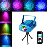 COIDEA Light Show Disco Light Strobe Light Karaoke Machine Party Light Rgb Disco Ball 9w Led Sound Actived 7 Color Changes for Bar Club Parties DJ Karaoke Outdoor and More with Remote (blue)