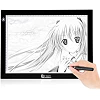 RTjoy USB Powered A4 size LED Light Box Untra-thin Light Pad 9x12 Light Table for Tracing