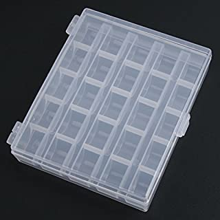 Hasew 25 Slots Empty Bobbins Spools Box Sewing Machine Bobbin Case Covers Sewing Goody