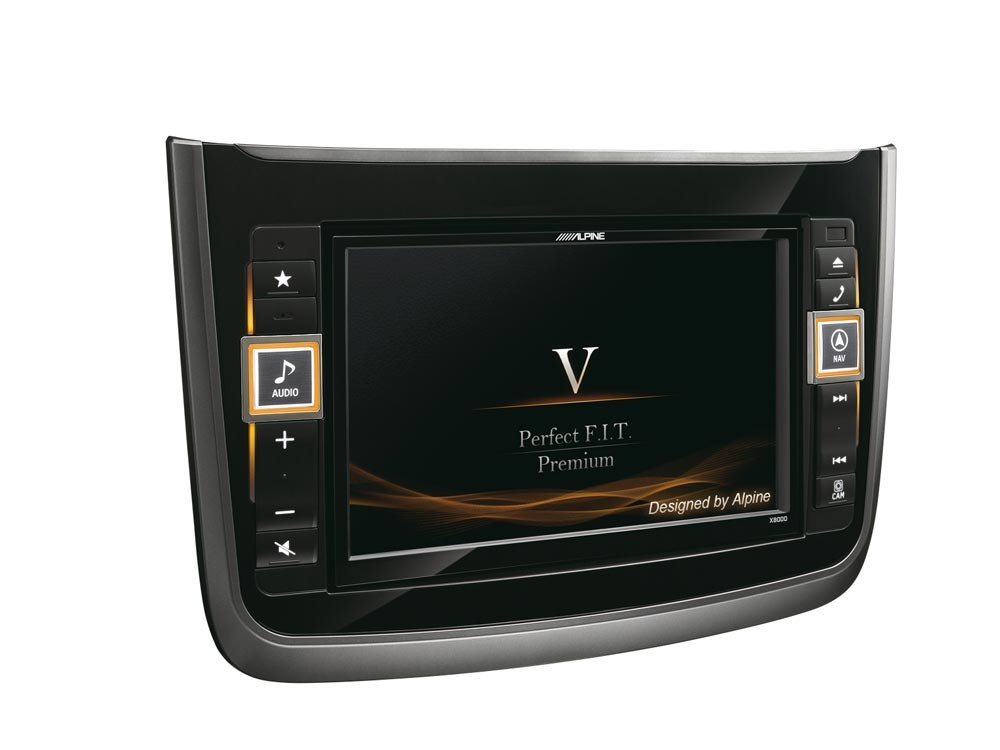 'Alpine x800d-v Fixed 8  'LCD Touchscreen 2900  g Black Navigator  –   Navigators (Eastern Europe, Western Europe, 20.3  cm (8), 800  x 480  Pixel, LCD, AAC, MP3, WMA, 2.1  + EDR)