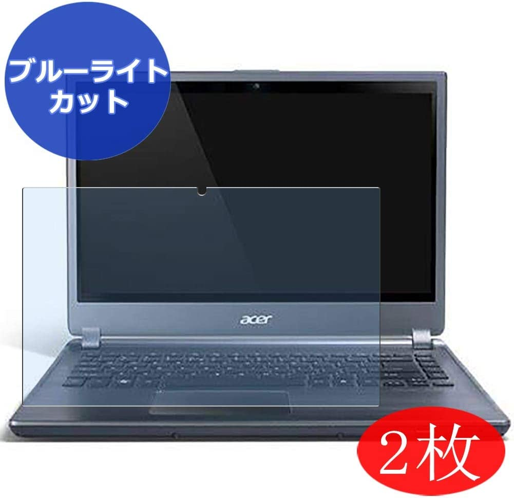 """【2 Pack】 Synvy Anti Blue Light Screen Protector for ACER Aspire M5-581 / M5-581G / M5-581TG / M5-581T 15.6"""" Screen Film Protective Protectors [Not Tempered Glass]"""