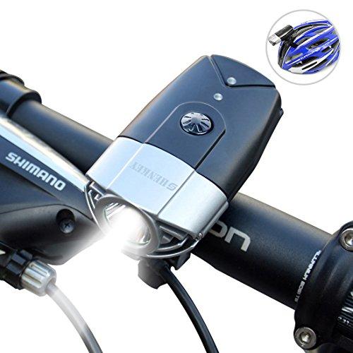 SHENKEY LED자전거 라이트 2000mah 1200루멘 USB충전 IP65방수 경량 블랙/실버/레드