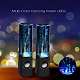 LED Dancing Water Speakers Light Music Water Fountain Show - Portable Speaker with 3.5mm Audio Jack