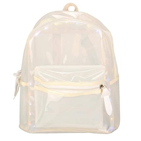 Mochila impermeable con luz LED transparente, con purpurina ...
