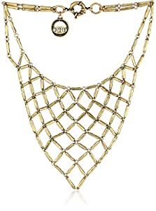 """Giles & Brother Gold-Tone Hammered Bib Necklace, 19"""""""