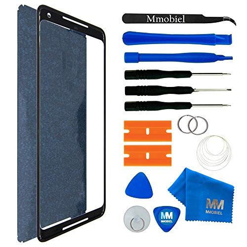 MMOBIEL Front Glass Replacement Compatible with Google Pixel 2 XL 6.0 Inch (Black) Display Touchscreen incl. Tool Kit