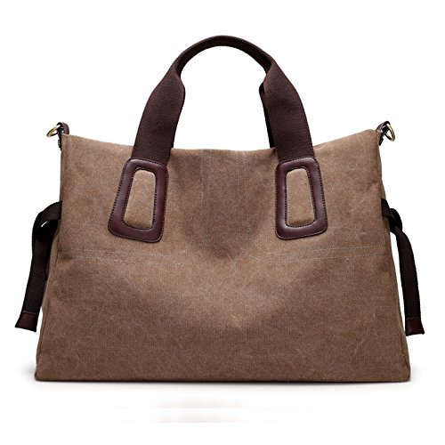 all lkklily fashion de hombro marrón lona bolsa match capacidad gran de mochila single bolsa azul Crossbody 8w8fB