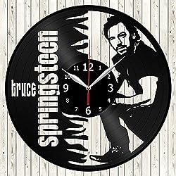 Bruce Springsteen Vinyl Record Wall Clock Decor Handmade Unique Original Gift
