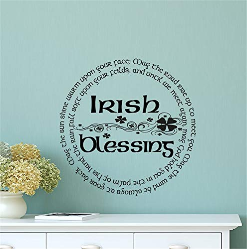 Mikayut Wall Sticker Quote Wall Decal Funny Wallpaper Removable Vinyl Irish Blessings May The Sun Shine Warm Upon Your Face for Living Room Bedroom