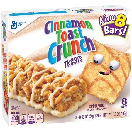 General Mills Breakfast Cereal Bars 6.8oz (Cinnamon Toast Crunch)