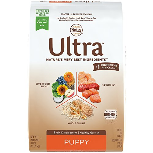 NUTRO ULTRA Puppy Dry Dog Food (1) 30 Pounds, Supports Brain Development and Healthy Growth ; #1 Ingredient Real Chicken ; Rich in Nutrients and Full of Flavor by Nutro