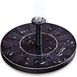 Ankway Solar Fountain Pump for Bird Bath 1.4W Freestanding Floating Solar Powered Fountain Pump for Garden, Tank, Pond, Pool and Birdbath 【Upgraded】