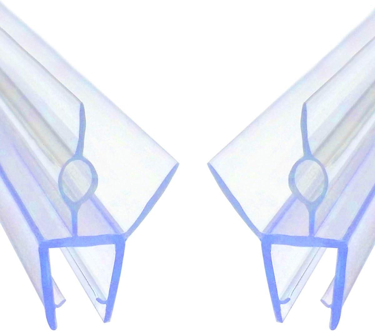 Tira De Sellado De La Puerta De La Pantalla De Ducha para Grosor De Vidrio De 10mm ECYC Tira De Goma Pl/áStica del Sello De La Puerta De La Pantalla De Ducha del Ba/ñO 10mm Longitud 70cm