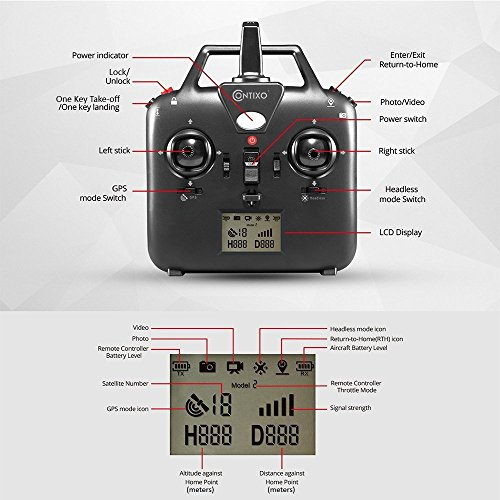 holiday special contixo f18 advanced gps assisted rc quadcopter