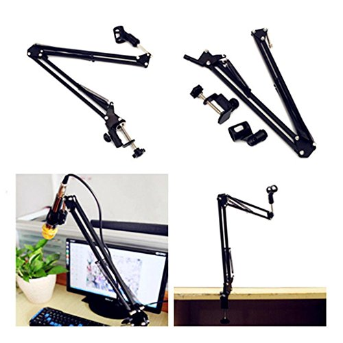 Flange Mount Die (Black Desk Microphone Stand Mount Adjusable Metal Scissor Arm Mount Adjustable)
