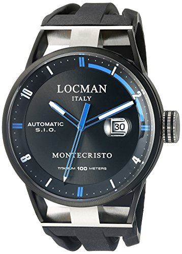 Locman Italy Men's 0511KNBKFBL0GOK Montecristo Classic Automatic Analog Display Automatic Self Wind Black Watch