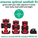 hifold fit-and-fold highback booster Seat, Slate