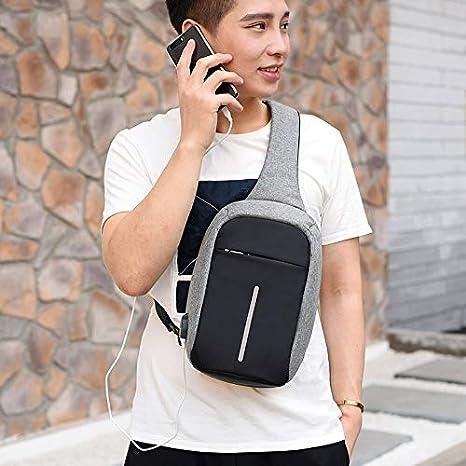 Amazon.com: Men Chest Bag USB Charging Single Shoulder Strap Back Casual Messenger Anti-Theft Women Travel Crossbody: Kitchen & Dining
