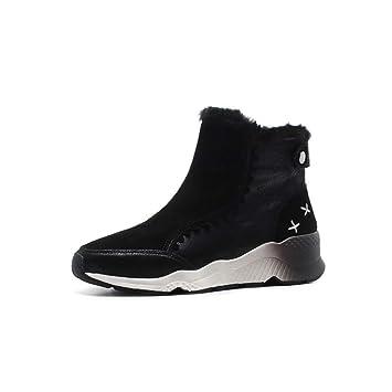 YAN Zapatos Ocasionales de Las Mujeres Botas para la Nieve de Gamuza Calzado al Aire Libre