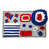Petvins Dog Snuffle Mat Pet Feeding Slow Feeder Bowl Mat Foraging Blanket Nose Work Training Stress Release Activity Pad Colorful